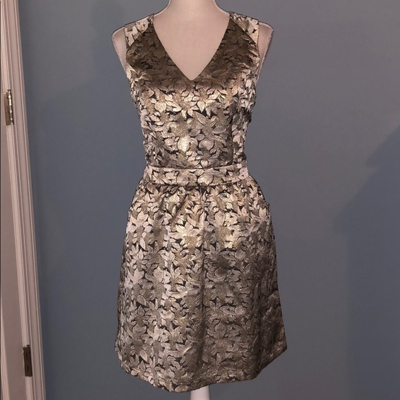 Skies Are Blue Dresses & Skirts - New Skies Are Blue gold silver metallic dress